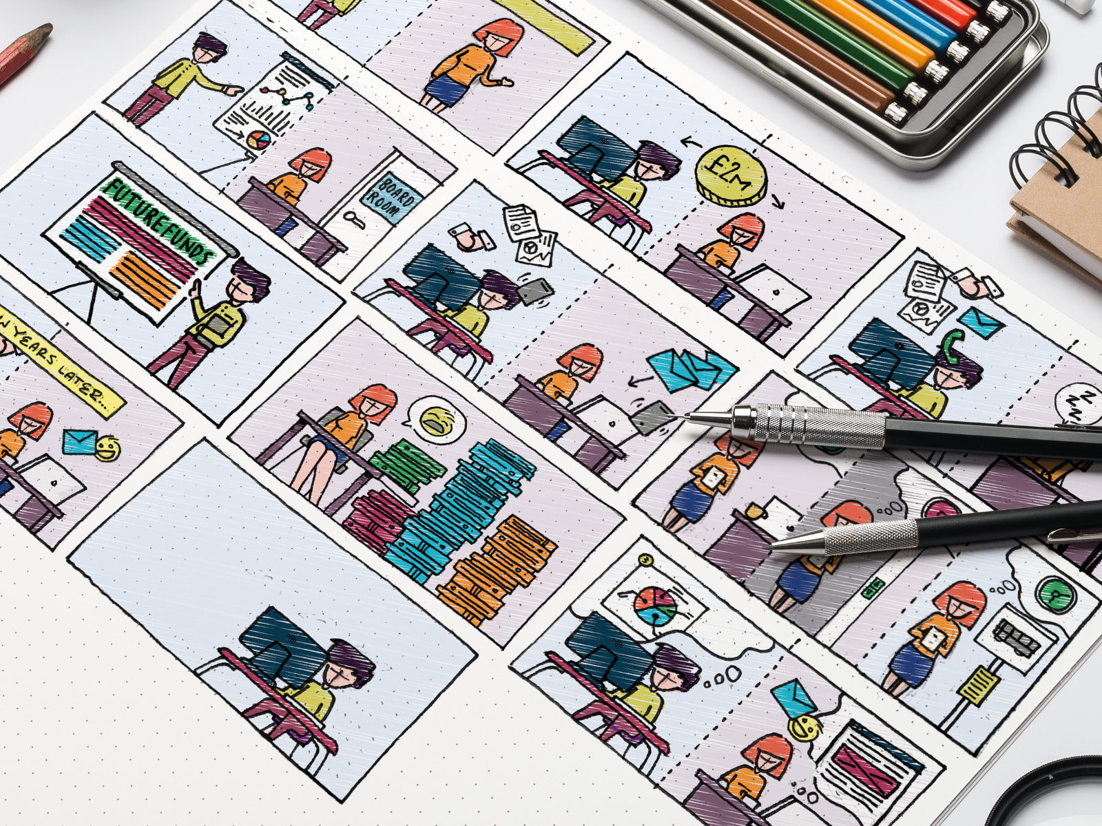 """Explainer"""" video storyboard by Triptic.pl on Dribbble"""