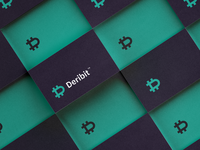 """Deribit"" custom logotype minimalism stock exchange market trading corporate logo dletter letterform currency financial bitcoin minimal logo branding logo"