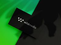 """WildMedia"" custom logotype green nature blackandwhite negative space fangs teeth beast media wild wild logo wm logo branding minimal logo logo"