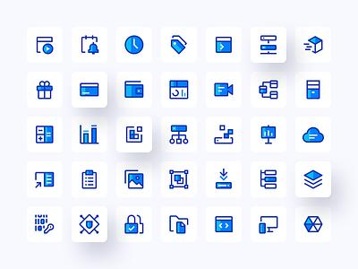 Icons set #1 blue ui design ui icons set carbon design system icons