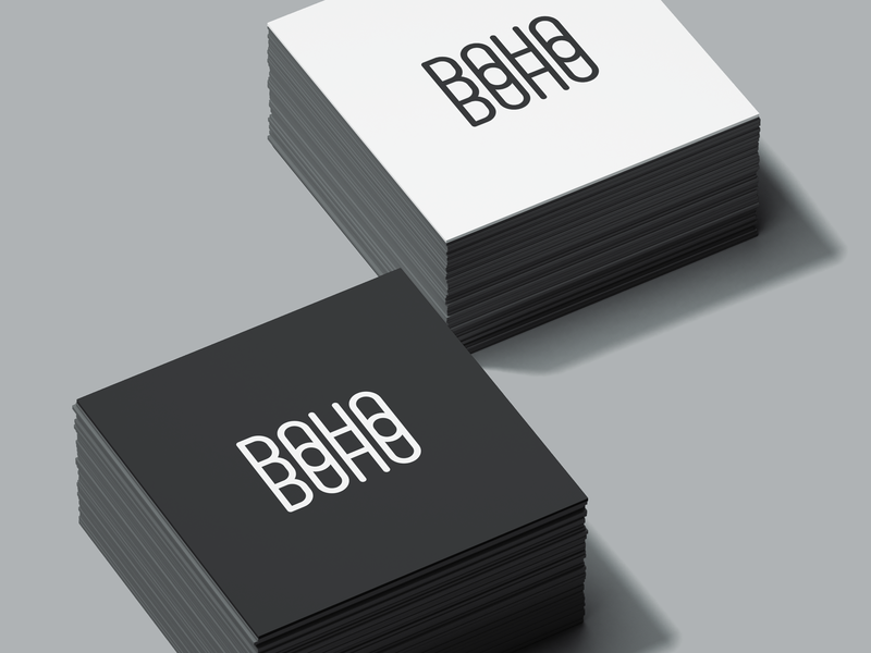 """BohoBoho"" custom logotype"