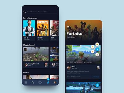 Social Gaming App gaming social media social gaming social app social platform gaming website gaming app gaming ui app  design