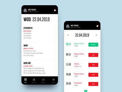 Redesign Wodify redesign wodify fitness fitness app sportswear sport ui sports sport app