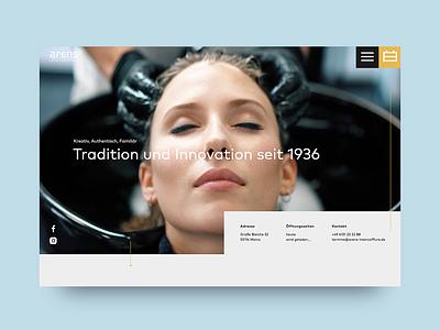 💇 Hair Salon - Website Redesign hair salon hairstyle ux uidesign ui