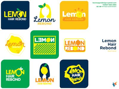 Lemon Rebond Beauty Salon (1st Shot) hair salon yellow hair idenity logo branding rebond lemon beauty salon logo