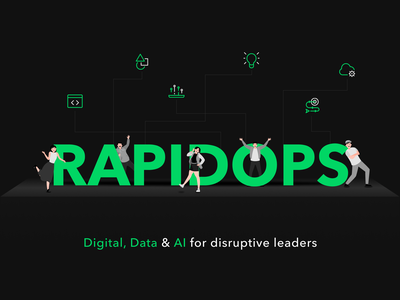 Rapidops Wallpaper ai data digital rapidops figma icons vector branding logo illustration wallpaper design wallpaper