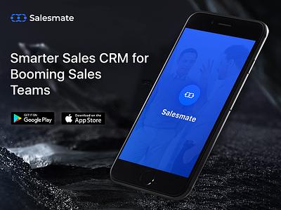 Sales CRM Mobile Application mobile crm web app app sales crm crm mobileapp ui design splash screen mobile cloud blue