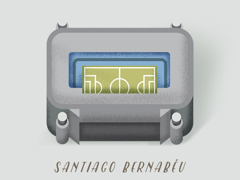 Santiago Bernabeu, Madrid. football spain stadium madrid illustration realmadrid