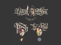 Black Panther, Flash, Iron Man