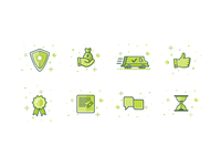 Green Icons for Moscow firm