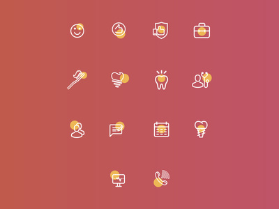 """Icons and website in process for """"Smile"""""""