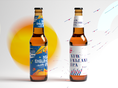 Beer packing design (wolfsbrewery.ru, New England Ipa)