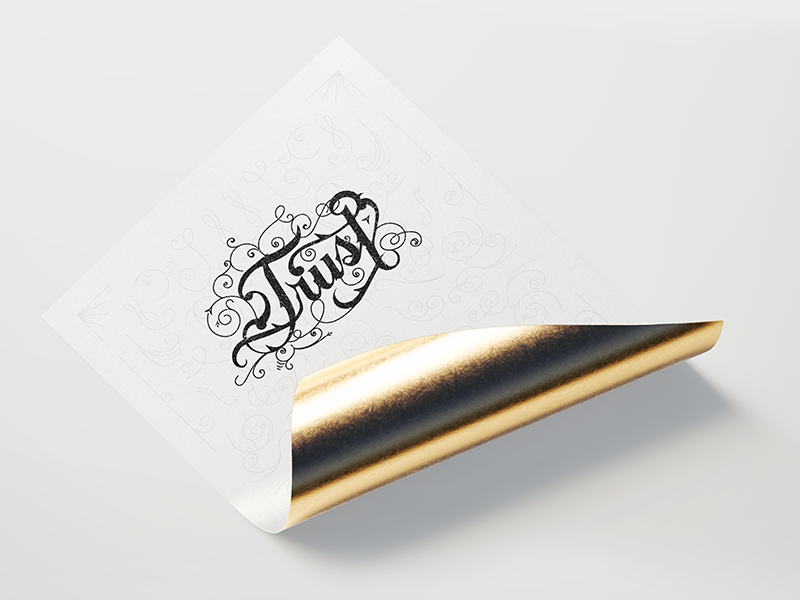 Trust gold design calligraphy design calligraphy and lettering artist calligraphy trust