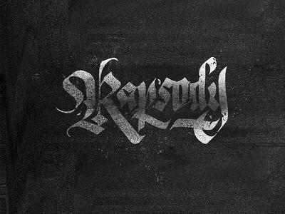 Rapsody - calligraphy work 2018