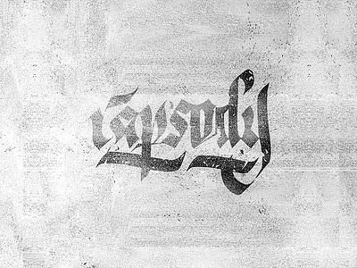 Rapsody calligraphypen brush and ink customfont rapsody vector graphic calligraphy lettering