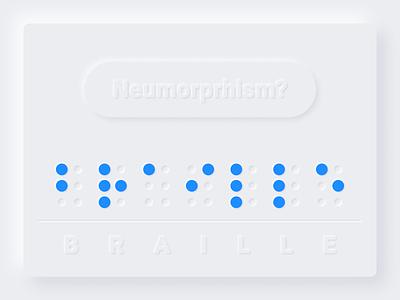 Neumorphism & Braille Alphabet + FREE Figma accessibility design alphabet braille neumorphic neumorphism