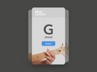 Guitar Learning Card