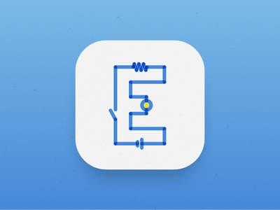 E - Days of Type 36daysoftype app icon days of type electricity e