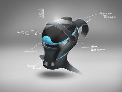 Biker Backpack drawing backpack bag blue wacom photoshop concept sketch illustration design product design
