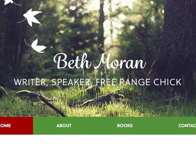 Writer Speaker Free Chick web site nav header green
