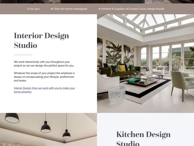 Luna Design Website ui design web site