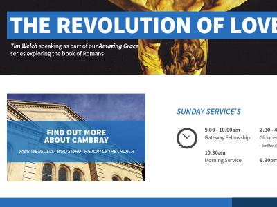 CBC Homepage web church