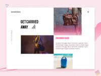 Shopping web slider