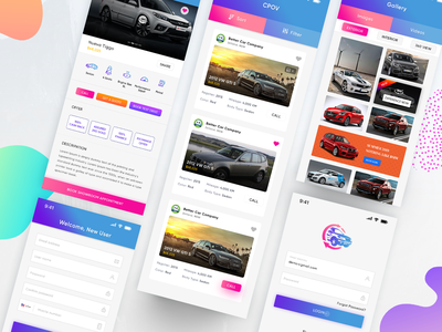 Automobiles App automobiles car ecommerce android app iphone app app design ui ux car selling car app car buy car trading