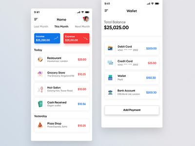 Personal financial management app walllet app money app android app ux ui money finance app ios personal