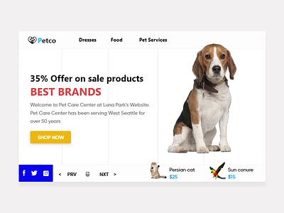 Pet web slider web slider for website webs website slider animation slider