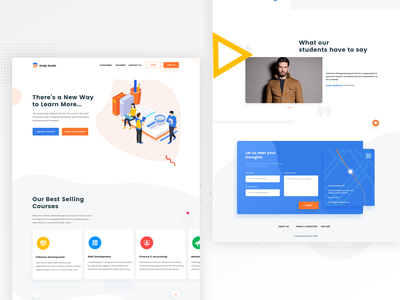 Landing Page online edcuation page education landing page web ui website web agency website one page website agency landing page landing page