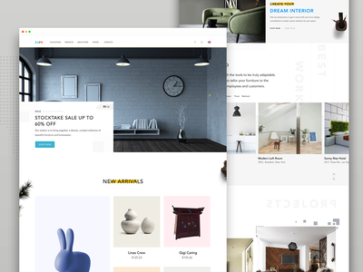 Furniture Landing Page one page website landing page ui furniture landing ui web furniture website website furniture landing page landing page furniture