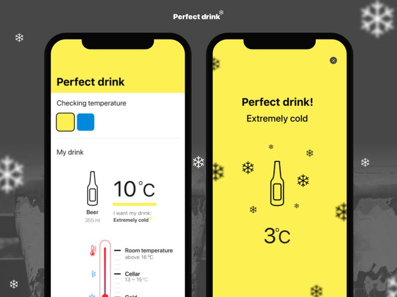 Perfect drink App drink arduino ux ui beer