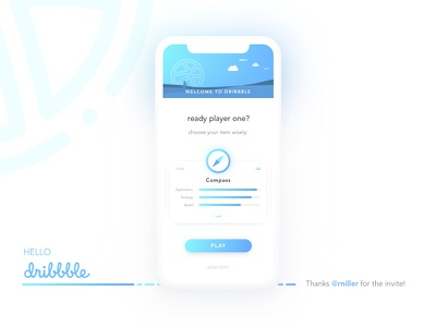 Ready Player One? iphone mobile gradient first shot game debut