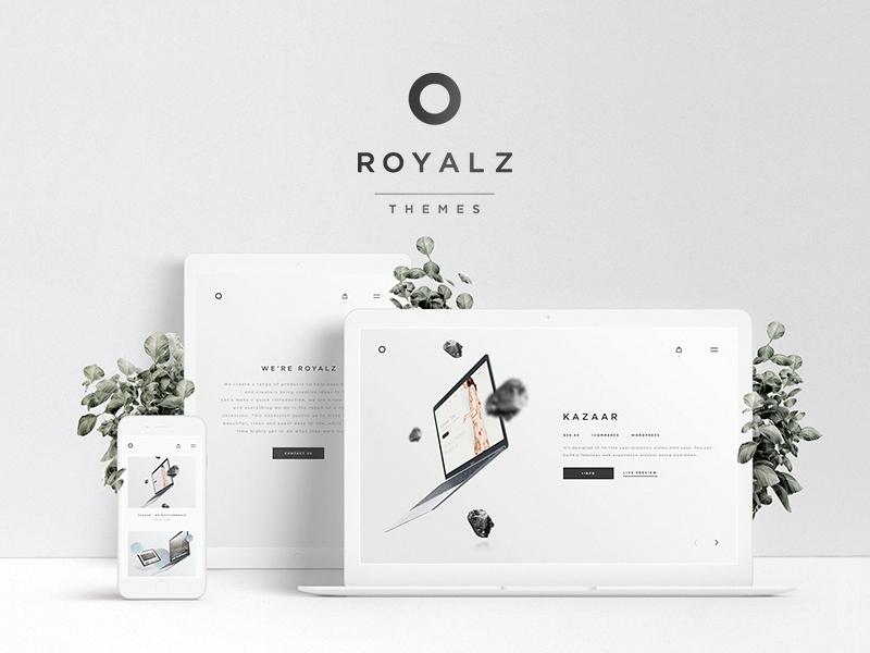Royalz Themes responsive minimal design web templates store themes