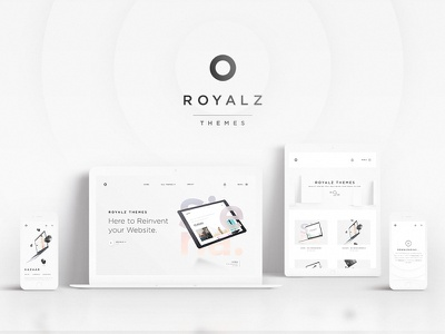 Royalz Themes responsive dark minimal design web templates store themes photography tablet reinvent creative