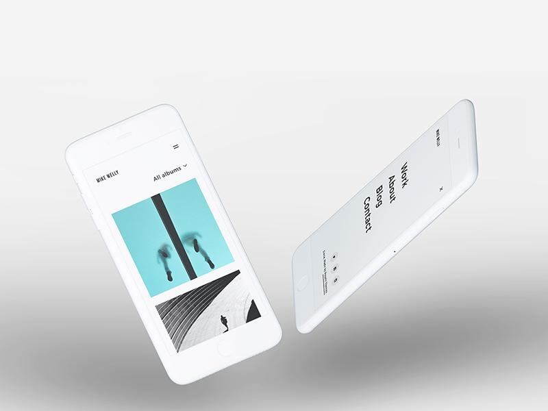 Siena - Responsive Photography Portfolio design web responsive theme portfolio phone ui variation landing wordpress template photography