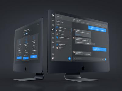 Cyane UI Kit - Dark Mode