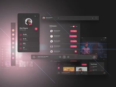 Crimson UI Kit - for Music Creators