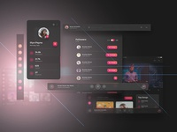Crimson UI Kit - for Music Creators