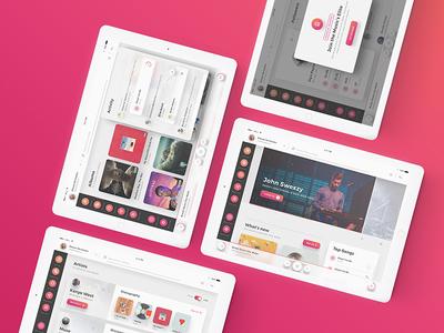 Crimson UI Kit -  Beautiful, Rich and Minimal