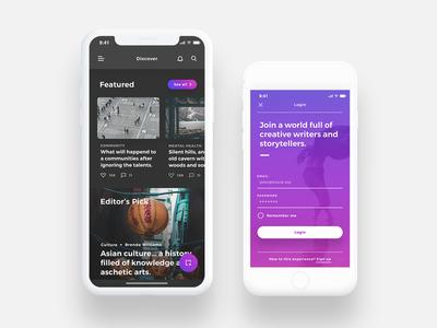 Lydia UI Kit - Bloggin & Pulishing App UI Kit