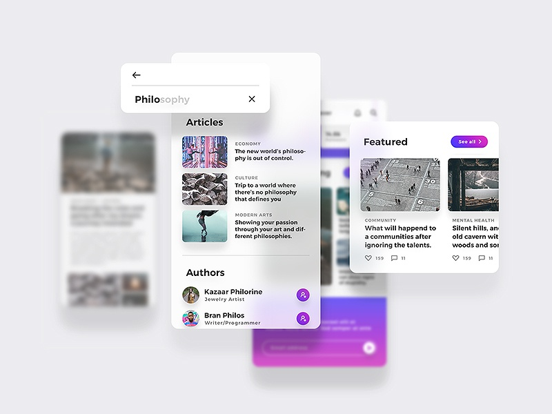 Lydia UI Kit - Beautiful, Rich & Minimal mobile iphone x ui ux interactive iphonex activity clean customizable minimal article blog