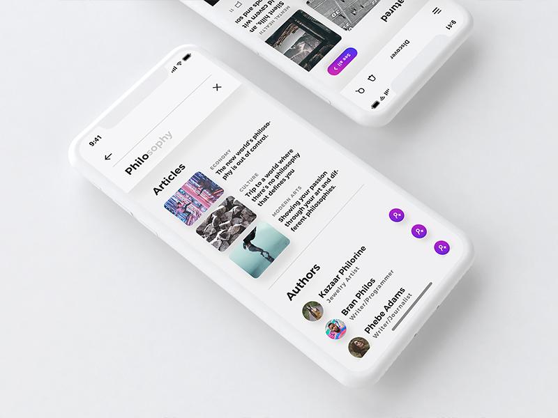 Lydia UI Kit - Bloggin & Pulishing App UI Kit blog article minimal customizable clean activity iphonex interactive ux ui iphone x mobile