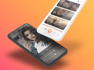 Arnelle UI Kit - iOS Stories App UI Kit gold iphone x ios ux ui app media gallery chat messages stories