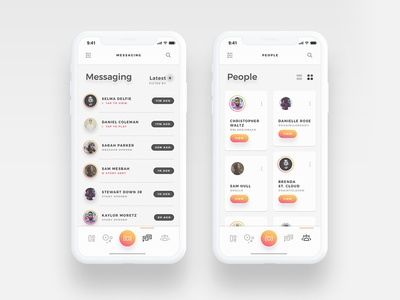Arnelle UI Kit - Messages and Contacts