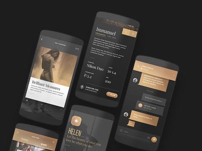Helen - Android Portfolio App UI Kit
