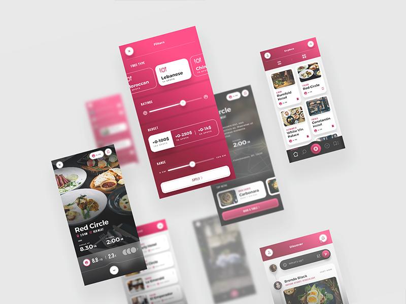 Scarlett - for Food & Restaurants app mobile restaurant app food app interactive flat iphone x web dark clean minimal ux ui