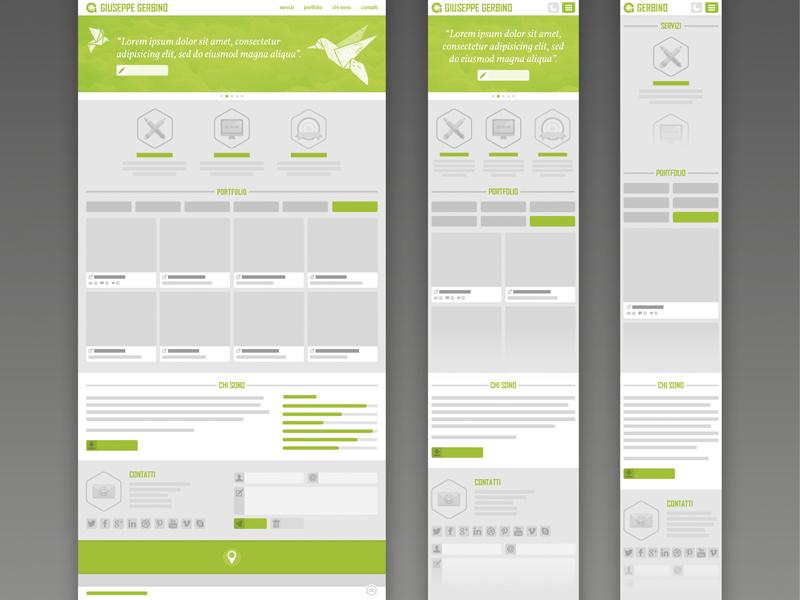 Portfolio 2013 Wireframe web design website responsive wireframe origami