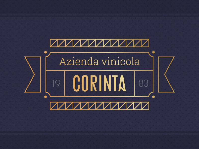 Corinta Identity identity logo gold wine winery